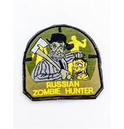 Шеврон на липучке Russian Zombie Hunter - фото 18235
