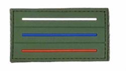 Шеврон на липучке ПВХ флаг России мини олива - фото 18655