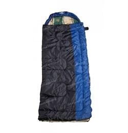 Спальный мешок Аляска Эксперт с подголовником до -20 сине-черный - фото 18979