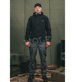 Куртка флис Дозор черная - фото 19457