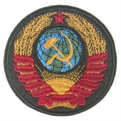 Шеврон на липучке Герб СССР олива - фото 19774