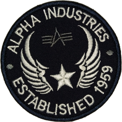 Шеврон на липучке Alpha Industries - фото 19845