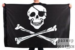 Флаг пиратский с повязкой - фото 19910