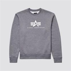 Свитшот Basic Logo Crewneck Sweatshirt Alpha Grey - фото 20280