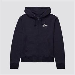 Толстовка с капюшоном Small Logo Full-Zip Hoodie Alpha Black - фото 20284
