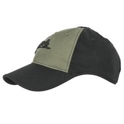 Кепка бейсболка Logo Cap Helikon Black/Olive Green - фото 20321