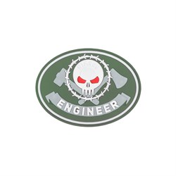Шеврон ПВХ на липучке Специальность Инженер олива - фото 20436