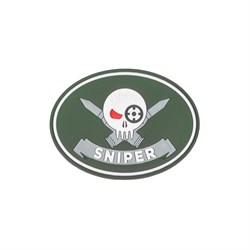 Шеврон ПВХ на липучке Специальность Снайпер олива - фото 20440