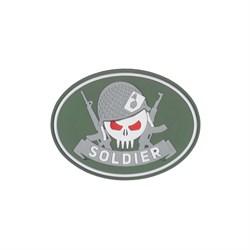 Шеврон ПВХ на липучке Специальность Солдат олива - фото 20446