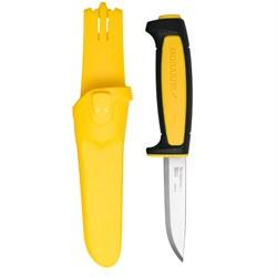 Нож туристический Mora Basic 511 углеродистая сталь желтый - фото 20679