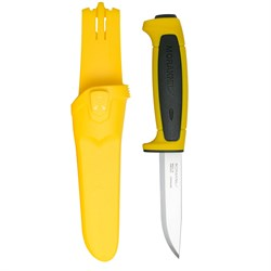 Нож туристический Mora Basic 546 нержавеющая сталь желтый - фото 20681