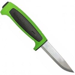 Нож туристический Mora Basic 546 нержавеющая сталь зеленый - фото 20683