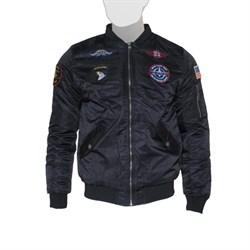 Куртка бомбер MA-1 With Patches Black - фото 20969