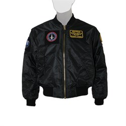 Куртка MA-1 Flight Jacket With Patches Black - фото 20973