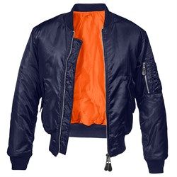 Куртка летная бомбер MA-1 Brandit Navy - фото 21077