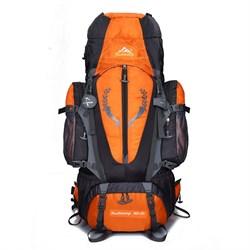 Рюкзак туристический Weikani 85л оранжевый - фото 21114