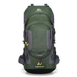 Рюкзак туристический Weikani 60л зеленый - фото 21205
