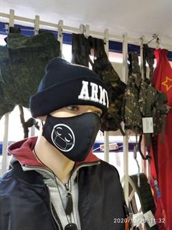 Маска защитная черная Смайлик - фото 21880