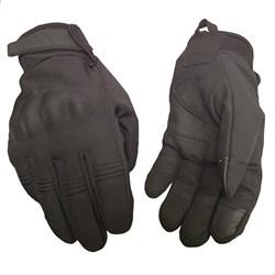 Перчатки тактические утепленные черные - фото 22054