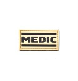Шеврон ПВХ на липучке Medic на песке - фото 22233