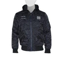 Куртка MA-1 Hooded Airborne Black Camo - фото 23201