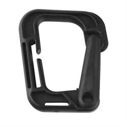 Карабин пластиковый D-образный черный - фото 23573