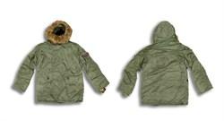 Куртка аляска N-3B Parka Sage Green Alpha - фото 5383