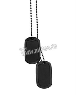 Личный жетоны US  с цепочкой и резинкой Black - фото 5885