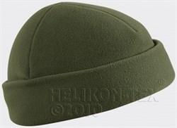 Шапка флис Helikon олива - фото 5895