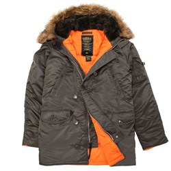 Куртка аляска N-3B Parka Slim Fit Replica Gray Alpha - фото 6359