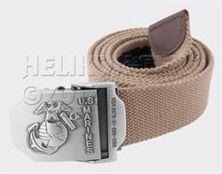 Ремень брючный US Marines Khaki - фото 6763