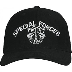 Кепка бейсболка Deluxe Special Forces Black - фото 8623
