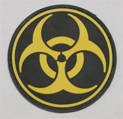 Шеврон на липучке Biohazard PVC - фото 9225