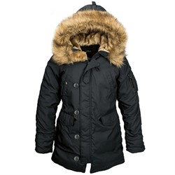 Куртка аляска женская Altitude W Parka Alpha Black - фото 9613
