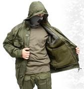 Куртка Панцирь с подстегом из флиса олива