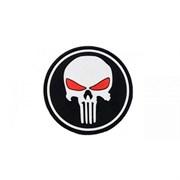 Шеврон на липучке Punisher чёрный PVC
