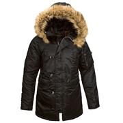 Куртка аляска женская N-3B W Parka Black