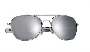 Очки с чехлом G.I. Type Pilot's Aviator Chrome Mirror