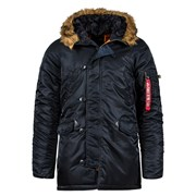 Куртка аляска N-3B Parka Slim Fit Black Alpha