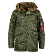 Куртка аляска N-3B Parka Slim Fit Sage Alpha