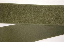 Лента липучка велкро с ответкой 50мм олива метр погонный