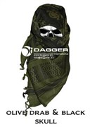 Арафатка Shemagh Dagger OD/Black Color Skulls