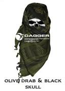 Арафатка Shemagh Dagger OD/Black Color Skulls