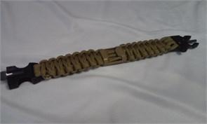 Браслет из паракорда с открывашкой для бутылок, кресалом и свистком койот