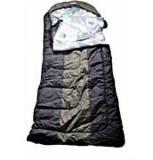 Спальный мешок Аляска Эксперт с подголовником до -15 черный-олива