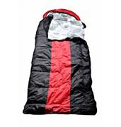 Спальный мешок Аляска Эксперт с подголовником до -20 черно-красный