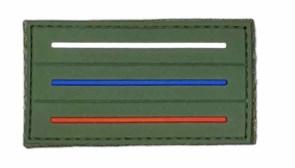 Шеврон на липучке ПВХ флаг России мини олива