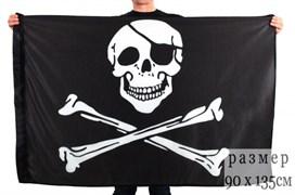 Флаг пиратский с повязкой