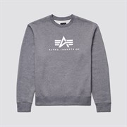 Свитшот Basic Logo Crewneck Sweatshirt Alpha Grey