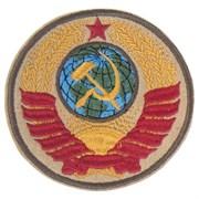 Шеврон на липучке Герб СССР бежевый